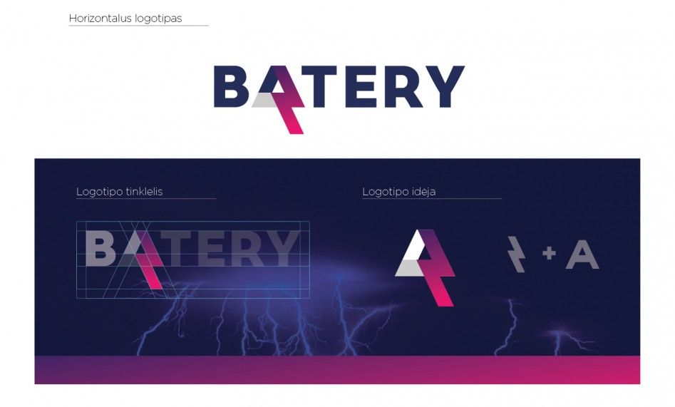 bateriju logotipas
